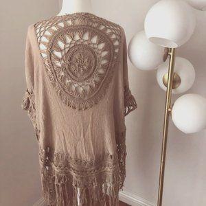 Free People - Bohemian Vest Crochet - Circle